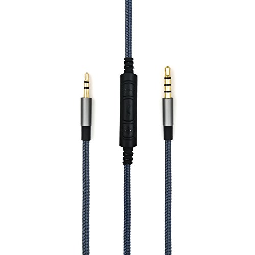 NewFantasia 3.5mm - 2.5mm Male Replacement Cable Compatible with Bose oe2, oe2i, AE2, QC35 Headphones, Remote Volume Control & Mic Cord Compatible with Samsung Galaxy Sony Xiaomi Huawei Android Phone by NewFantasia (Image #1)