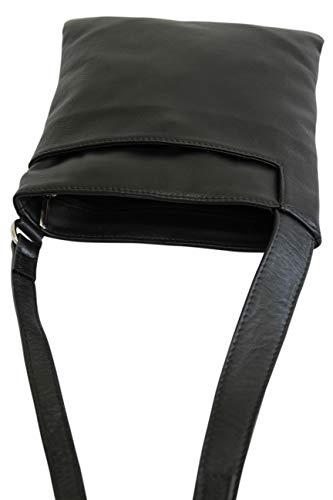 Ambramoda in nera Borsa da pelle liscia donna spalla Nl611 a piccola 70rq7v