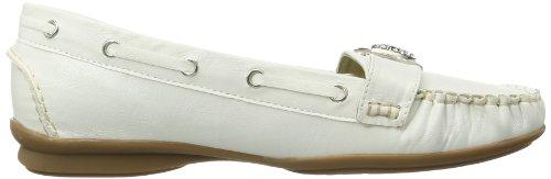 Andrea Conti 0873010017 - Mocasines de material sintético para mujer Blanco (Weiß (Weiß 001))