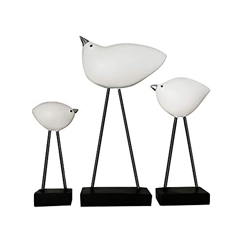 MSchunou Nordic Simple Black and White Series of Creative Ornaments Living Room Bedroom Study Room Decoration Cabinet Decoration Resin Gilt Bird -