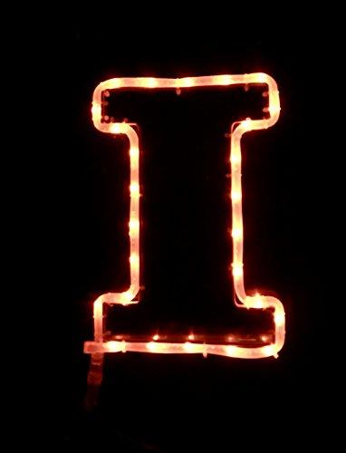 ILLINOIS UNIVERSITY FIGHTING ILLINI Football Tailgating Window Bar PUB Home Car Light (University Neon Lamp)