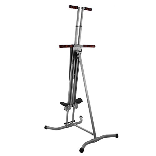 Meanch 440LBS Climber Machine Fitness Stepper Climber Exercise Equipment Vertical Climber for Home Gym Exercise Stepper Cardio Climbing System (Gray)