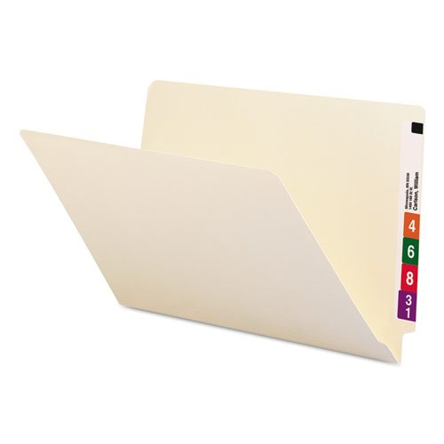 Shelf Folders, Straight Cut, Single-Ply End Tab, Legal, Manila, 100/Box, Sold as 100 Each