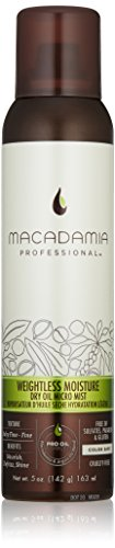 (Macadamia Professional Weightless Moisture Dry Oil Micro Mist - 5 oz. - Baby Fine to Fine Hair Textures - Adds Shine & Controls Frizz - Sulfate, Gluten & Paraben Free, Safe for Color-Treated Hair)
