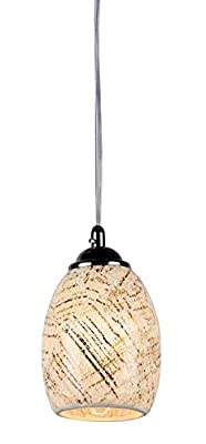 Chloe Lighting CH3GY16TC05-DP1 Melia Mosaic 1-Light Ceiling Mini Pendant with 4.8-Inch Shade