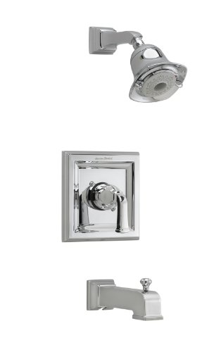 American Standard T555.528.002 Town Square Bath and Shower Trim Kit with 3-Function Flowise Showerhead, Polished Chrome