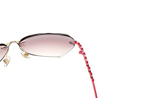 Lens Arm Tawny gafas VOLCHIEN borde Para Red diamante solares sin mujer vAxPqx08w