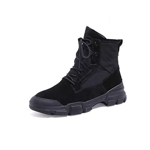 FH Botas Martin Boots para Estudiantes Femeninas Zapatos Altos Salvajes Botas Individuales (Color : Negro, Size : EU39/UK6/CN39)