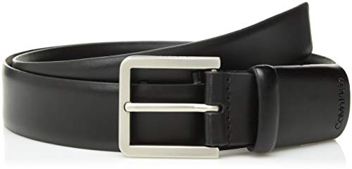 Calvin Klein Men's 35mm Belt with Hidden Stretch Function, black, 32 Calvin Klein Embossed Belt
