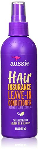 Aussie Leave In Conditioner Spray, with Jojoba & Sea Kelp, Hair Insurance, 8 fl oz, Triple Pack