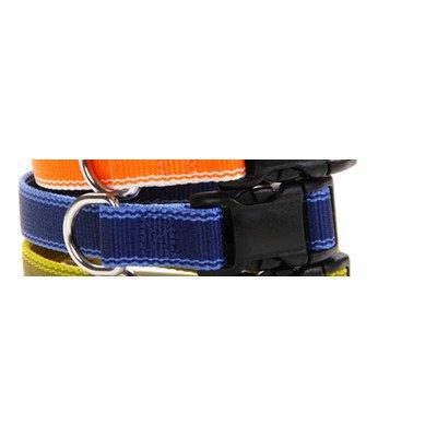 Waggo Stripe Hype Collar - Navy - Extra - 6-11 x 5/8 inches