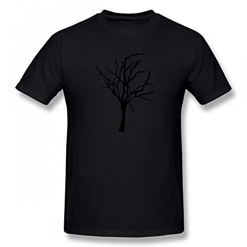 Halloween Dead Tree Customizable Personalized Men's T-Shirt Tee Black