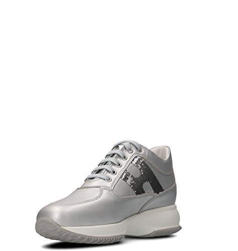 Hogan Women's HXW00N05641I6EB200 Silver Leather Hi Top Sneakers amazing price for sale best prices online low shipping cheap price free shipping with credit card outlet excellent CwPtF