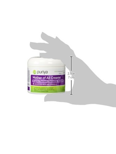 Puriya Daily Moisturizing Cream for Dry, Itchy and Sensitive Skin, Face and Body, Mother of All Creams for Extra Care of Skin Redness and Rash, Plant Rich Formula with Natural Light Peppermint Scent