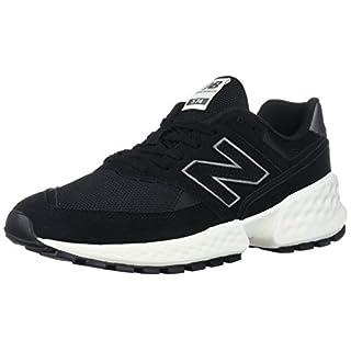 New Balance Women's 574v2 Sneaker, Black/SEA Salt, 8 B US