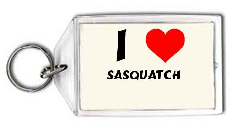 I love Sasquatch personalized keychain (first name/surname/nickname)