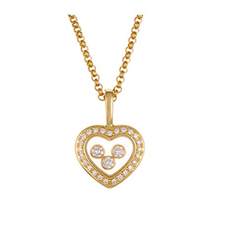 ds Heart Necklace in Yellow Gold - 794502-0001 (Chopard Diamond Necklace)