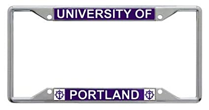 Wincraft University of Portland Pilots Premium License Plate Frame Chrome Plated