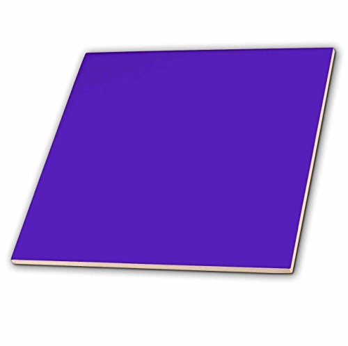 3dRose Purple Ceramic Tile, 6-Inch