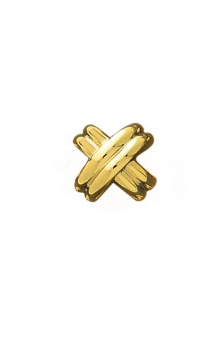 14K Yellow Gold Classic X Tie Tac-89902 by L&M