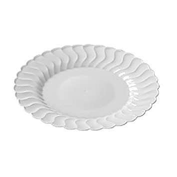 Fineline Settings 210-WH 10.25-Inch Flairware White Plastic Dessert Plates Party  sc 1 st  Amazon.com & Amazon.com: Fineline Settings 210-WH 10.25-Inch Flairware White ...