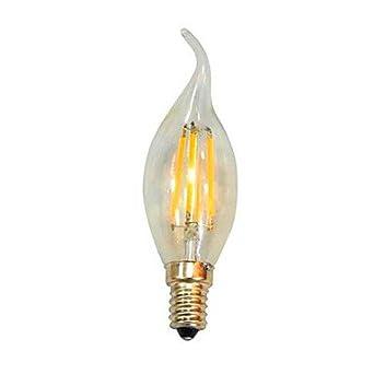 XLXbulb 4.0 E14 LED en Vela C35 4 SMD 5050 100 lm Blanco Cálido / Blanco Fresco Decorativa AC 100-240 V 1 pieza , 220-240v: Amazon.es: Iluminación
