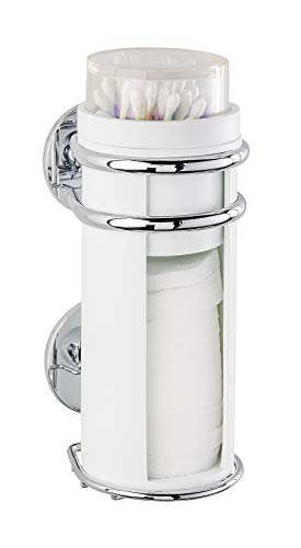 WENKO 22852100 Express-Loc Cotton Pads Dispenser Cali 3.1 x 7.5 x 4.3 inch Shiny