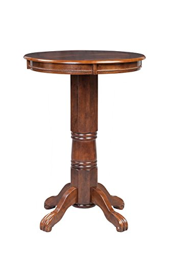 Boraam 71742 Florence Pub Table, 42-Inch, Cappuccino Cappuccino Finish Wood Feet