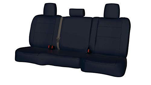 Third Row SEAT: ShearComfort Custom Waterproof Cordura Seat Covers for Chevy Tahoe (2000-2006) in Blue for 3 Passenger Bench w/Adjustable Headrests and Seatbelts in Backrest ()