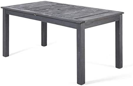 Christopher Knight Home 305357 Eric Outdoor Expandable Acacia Wood Dining Table