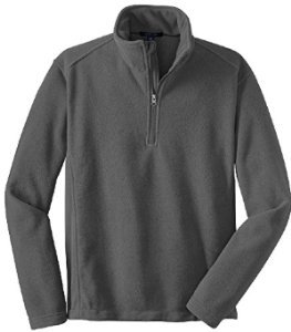Joe's USA - Mens Soft and Cozy Fleece 1/4-Zip Pullovers Sizes: Adult XS-6XL Iron Grey
