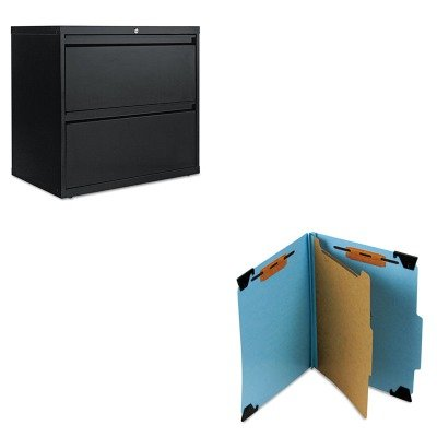 KITALELF3029BLSMD65105 - Value Kit - Smead Four Section Hanging Classification Folder (SMD65105) and Best Two-Drawer Lateral File Cabinet (ALELF3029BL)