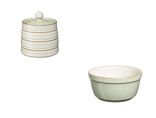 Denby Heritage Orchard Covered Sugar Bowl and Ramekin, Set of 4