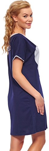 Italian Fashion IF Camisón para Mujer Elisabet 0114 Azul Oscuro