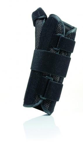 Florida Orthopedics Prolite Airflow 8'' Wrist Splint with Abducted Thumb, Black, Right, Small/Medium