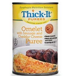 Thick-It Puree 15 oz. Can Sausage/Cheese Omelet Ready to Use Puree, H315-F8800 – Case of 12