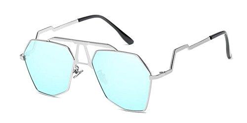 retro polarisées lunettes cercle métallique Glacier inspirées du soleil Bleu vintage de Lennon style rond en UUqYS