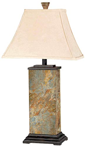 Kenroy Home 31202 Bennington Table Lamp, Natural Slate Finish (Slate Corners Stone)