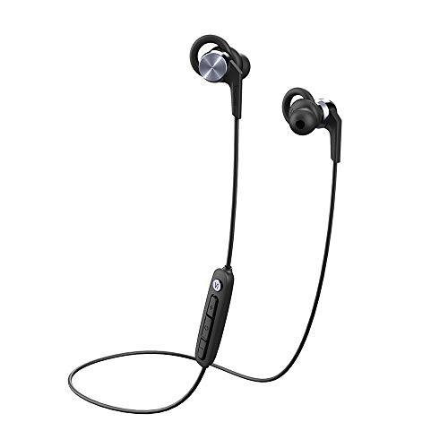 Vi React by 1MORE In-Ear Headphones Bluetooth Sport Wireless Earphones with AAC, IPX6 Waterproof, Lightweight, Secure Fit, Volume Control for Sports & Exercise - Space Gray