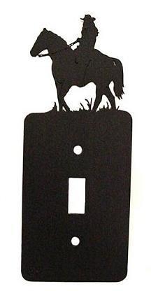 Female Horseback Rider Single Light Switch Plate Cover