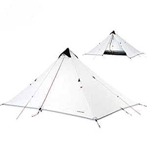 MINHUNG 15D Coating Silicone Rodless Double Cylinder Layer Waterproof Tent Portable Ultralight Camping 3 Season (1)