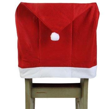 Christmas House Felt Santas Hat Chair Covers