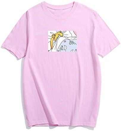 Sailor Moon Harajuku Graphic T-Shirt z krÓtkim rękawem Oansatz miły damski t-shirt ~: Odzież