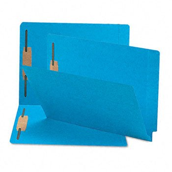 Smead® Heavyweight Colored End Tab Folders with Fasteners FOLDER,EXP,2FSTNR,LTR,BE 31600 (Pack of2)