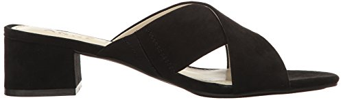 Sansa Klein Anne Heeled Fabric Black Women's Sandal pvpqwPE