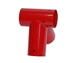 OTITU Just Fun Raccord balançoire Rond Ø100 mm, 90° - Rouge