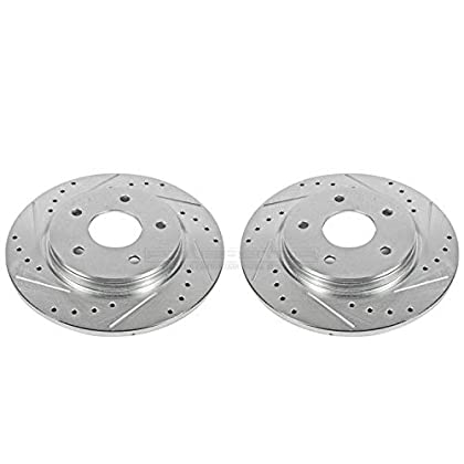 Image of Brake System Power Stop AR8380XPR Rear Evolution Drilled & Slotted Rotor Pair