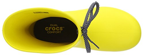 Botas Rain Boots Shorty Freesail Mujer para Crocs Lemon Amarillo zxwvIqt
