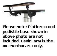 2440-20 Series WorkRite Gemini Arm 20 Wide Height Range 18.5(Arm Only) by Workrite