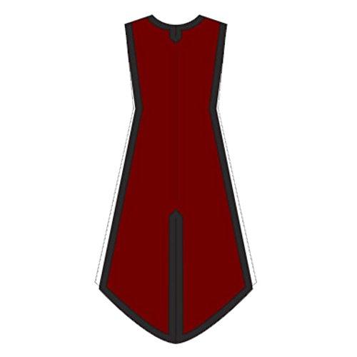 Armor Venue: Basic Medieval Tabard - LARP Costume Tunic Dark Red Large/X-Large (Dark Princess Costume)